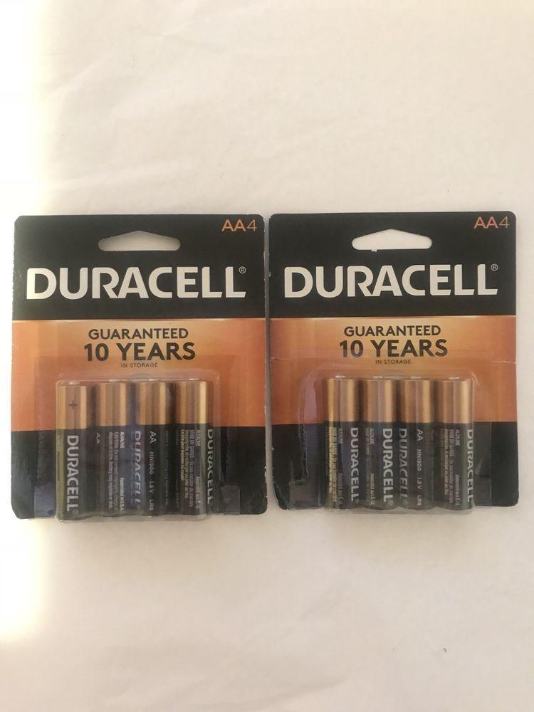 Duracell Aa Batteries 2 Brand New 4 Pack Alkaline Batteries Expires 3 2027 Ebay Duracell Ebay Batteries