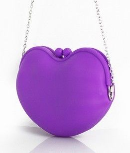 Heart rubber soft silica gel neon small messenger bag candy color messenger bag $16.11 - 18.59