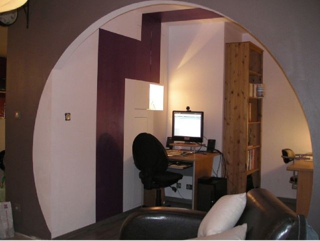 Aménagement d\'un garage en bureau et buanderie - Vue du bureau | Les ...