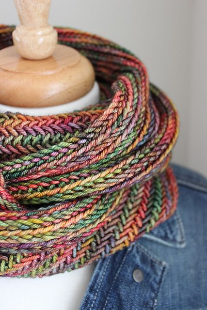 Big Herringbone Cowl by Purl Soho | malabrigo Rios in Diana | Craft ...
