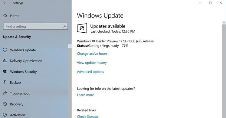 windows 10 rs5