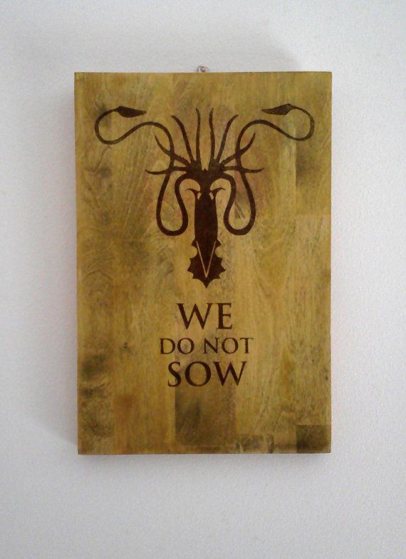 Game of Thrones House Greyjoy Wood Sign. \