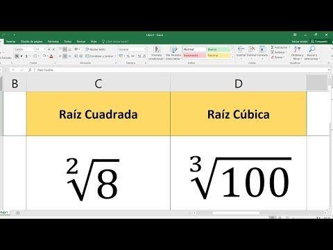 496) Cómo calcular la raíz cuadrada, cúbica, cuarta, quinta de un ...
