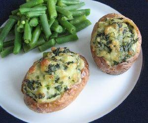 Mantarlı ıspanaklı patates dolması, dolma tarifi yapılışı | Resimli Yemek Tariflerin - Resimli Kolay Tarifler