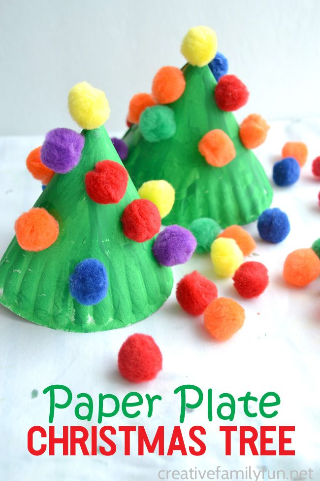 Simple paper plate Christmas tree craft for kids that's fun for preschoolers and elementary school kids. #Christmas #kidsactivities #kidscrafts #Christmascraft
