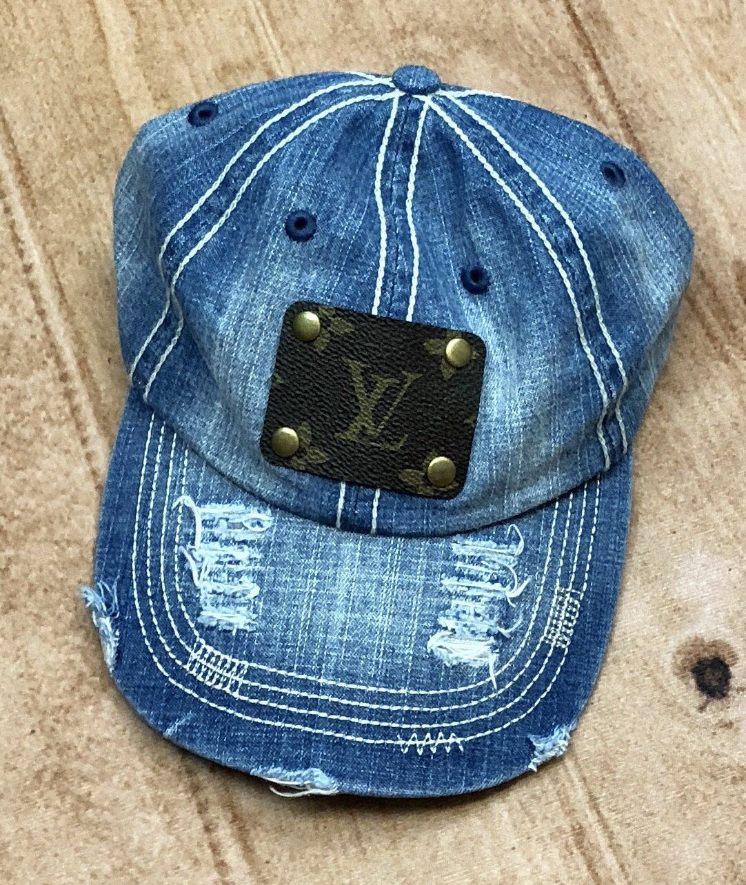 Louis Vuitton Upcycled Denim Hat  fc7ab903524
