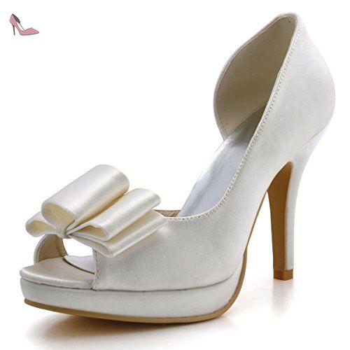 Chaussures de soirée à bout ouvert Elegantpark argentées femme L4MTmV