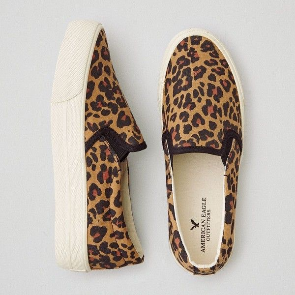 Leopard Print Slip On Shoes