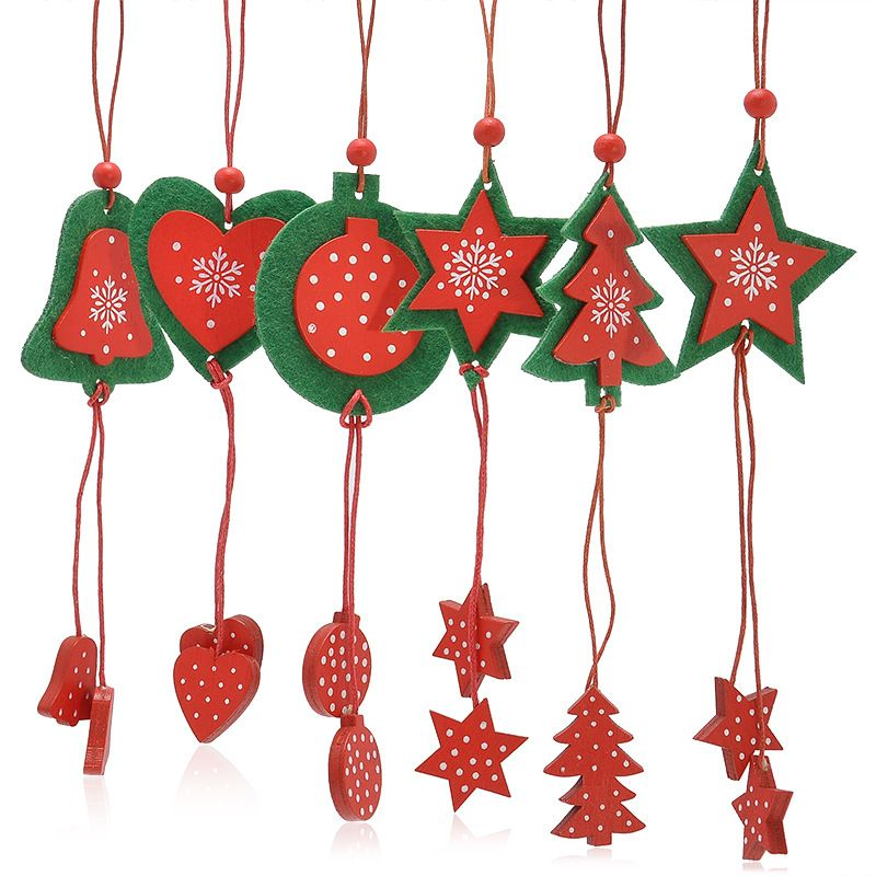 12PCS The Christmas Tree Ornaments Festival Party Garden Ornament - wholesale christmas decor