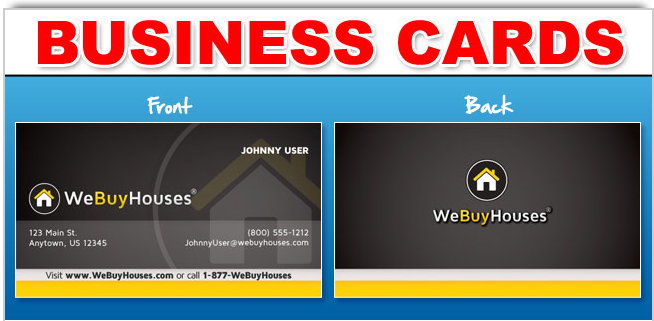 We Buy Houses Business Cards | We Buy Houses Marketing | Pinterest ...