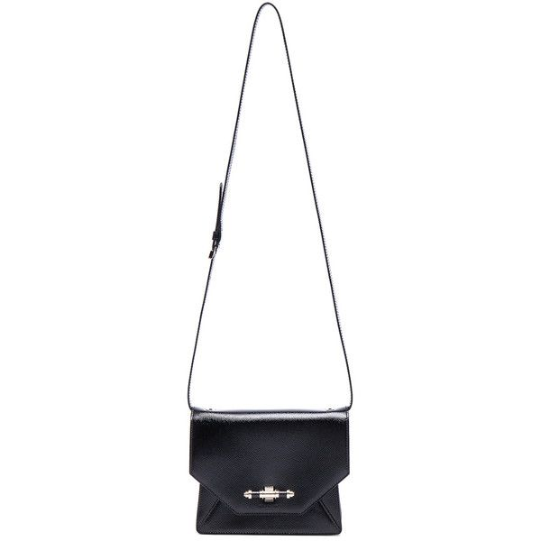 GIVENCHY Obsedia Crossbody Bag ($1,990) ❤ liked on Polyvore featuring bags, handbags, shoulder bags, crossbody purse, white handbags, crossbody handbags, cross body and crossbody shoulder bags