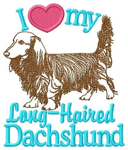 Love My Dachshund Embroidery Design Embroidery Designs Machine