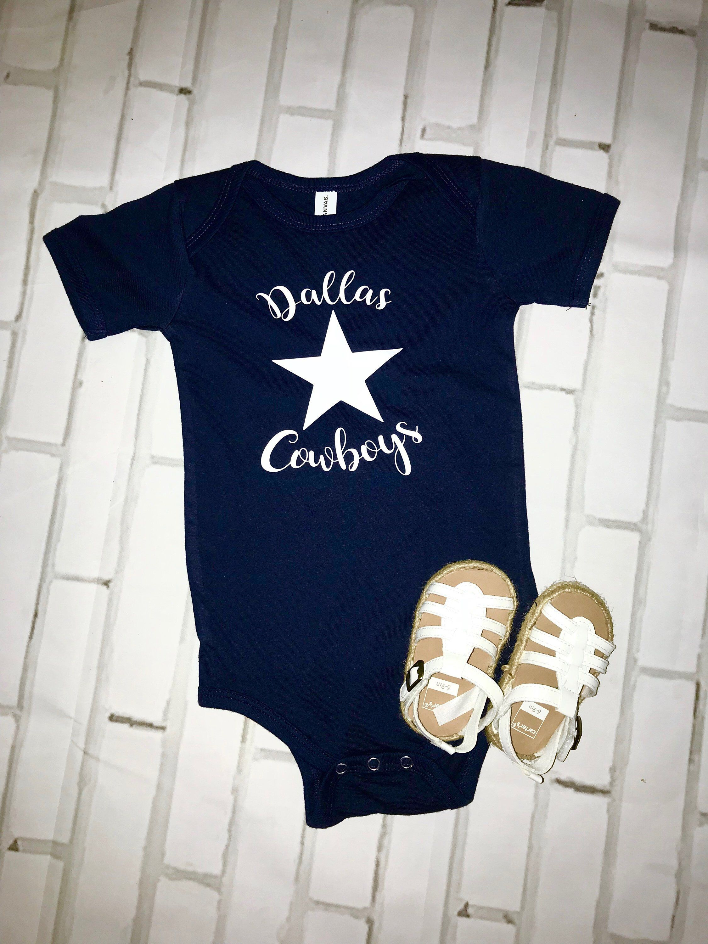 Excited to share this item from my  etsy shop  NFL sports team baby onesie! Dallas  Cowboys  clothing  children  baby  nflteam  dallascowboys  footballonesie  ... 89e519ea9