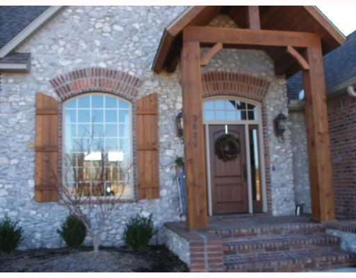 Stone Home With Cedar Shutters Decide On A Roof
