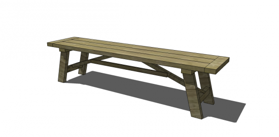 Free Diy Furniture Plans To Build A Wooden Truss Dining Bench The Design Confidential