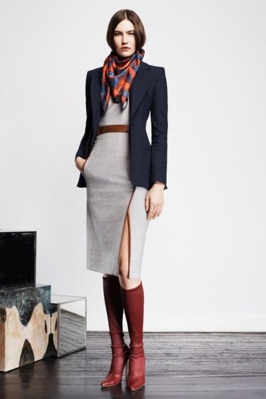 Love the grey dress and it would go well with my blue blazer with the grey