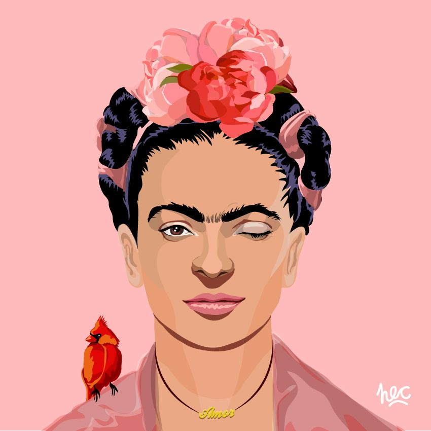 die besten 25 frida kahlo caricatura ideen auf pinterest. Black Bedroom Furniture Sets. Home Design Ideas