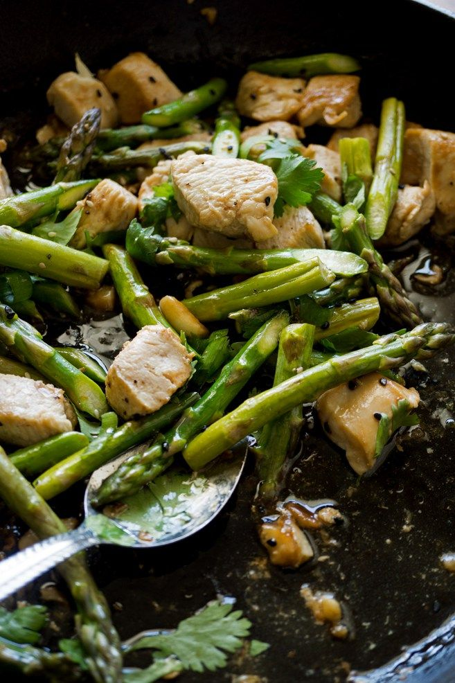 20 Minute Asparagus Stir Fry with Chicken Breast