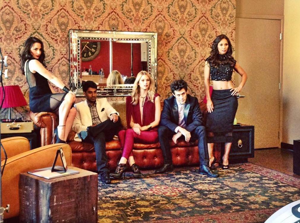 Um, GORGEOUS!  Behind the scenes of Season One photoshoot #Throwback