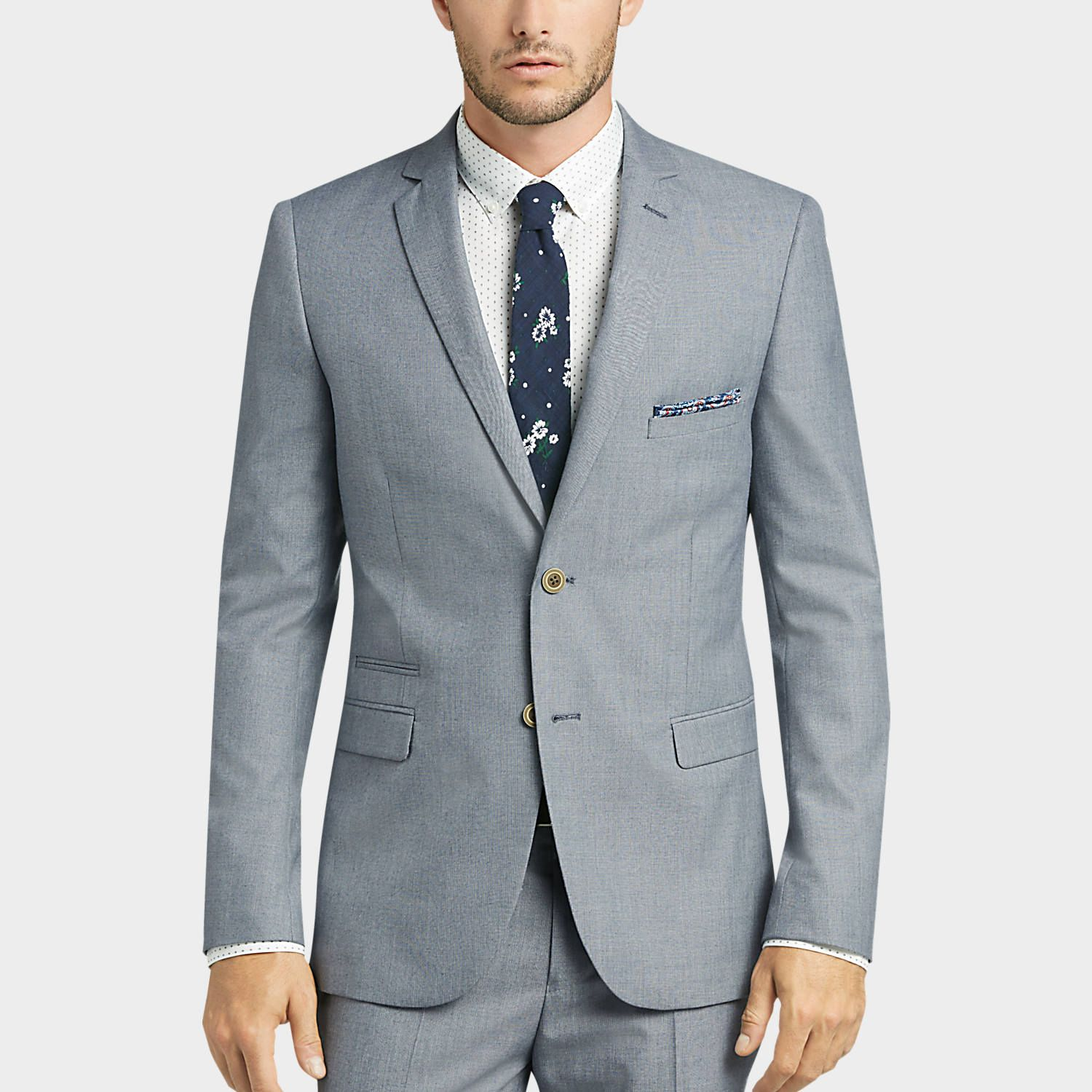 de019065 Buy a Paisley & Gray Blue Sharkskin Slim Fit Suit Separates Coat online at Men's  Wearhouse. See the latest styles of men's Blazers.