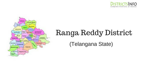 Ranga Reddy District with Mandals in Telangana State  There