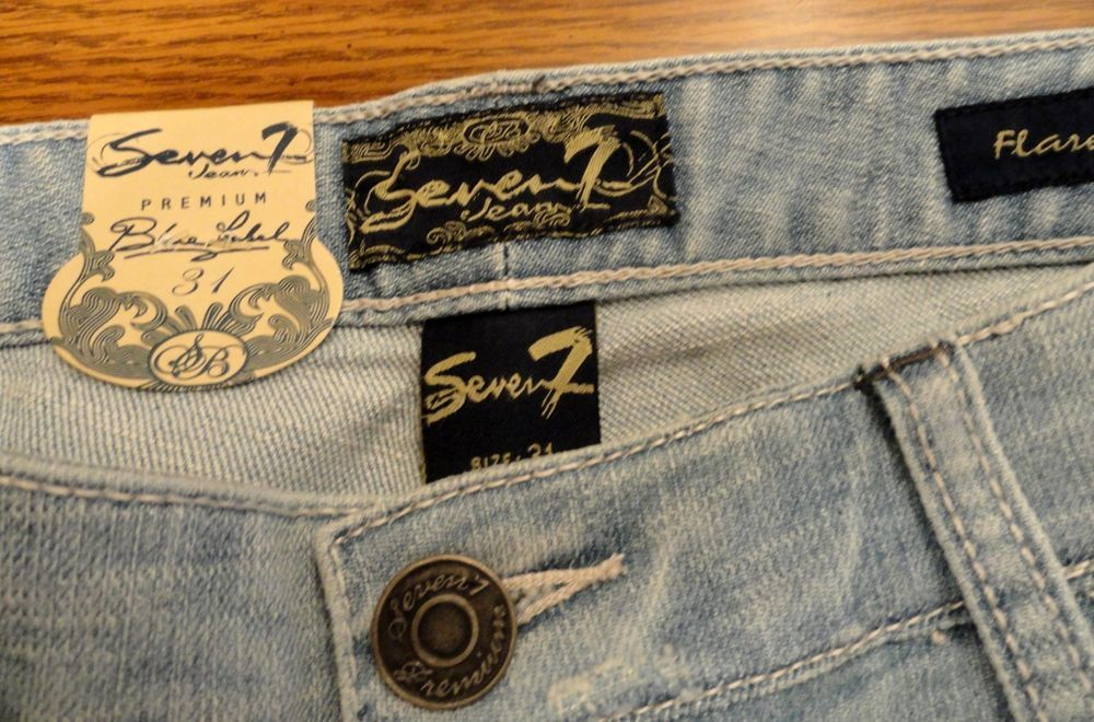 Women's NWT Premium blue Label 7 Seven for all Mankind Sz 13 Flare Bootcut Jeans #Unbranded #FlareBootcut