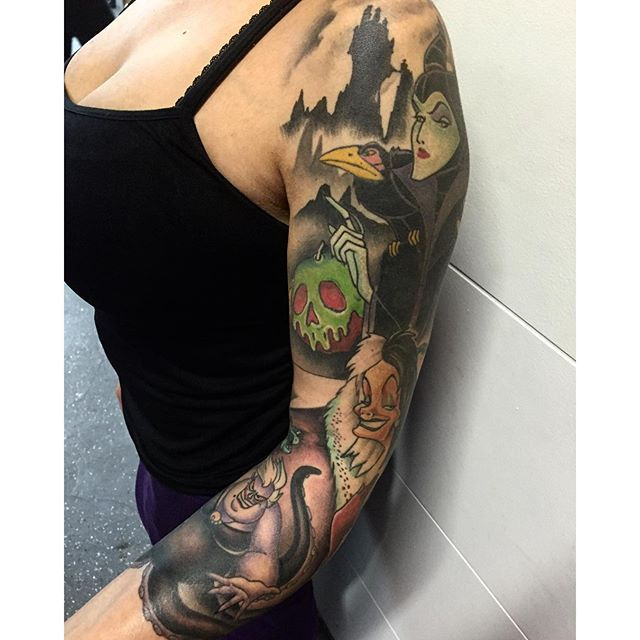 Scontent Cdninstagram Com Hphotos Xaf1 T51 2885 15 S640x640 Sh0 08 E35 11931142 1007183045970543 11395507 Disney Inspired Tattoos Disney Sleeve Tattoos Tattoos