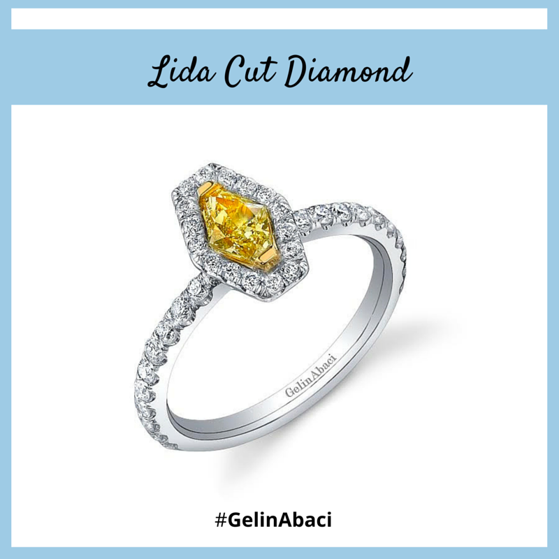 Meet the Lida Cut Diamond. Featuring a unique elongated shape to showcase the diamond's extraordinary sparkle created by its 43 facets, the Lida Cut Diamond is a one-of-a-kind patented diamond with brilliance that is sure to take your breath away! #diamonds #GelinAbaci #engagementrings