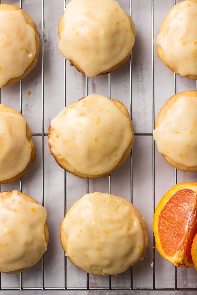 Frosted Orange Cookies On A Cooling Rack In 2020 Orange Cookies Sour Cream Cookies Orange Recipes