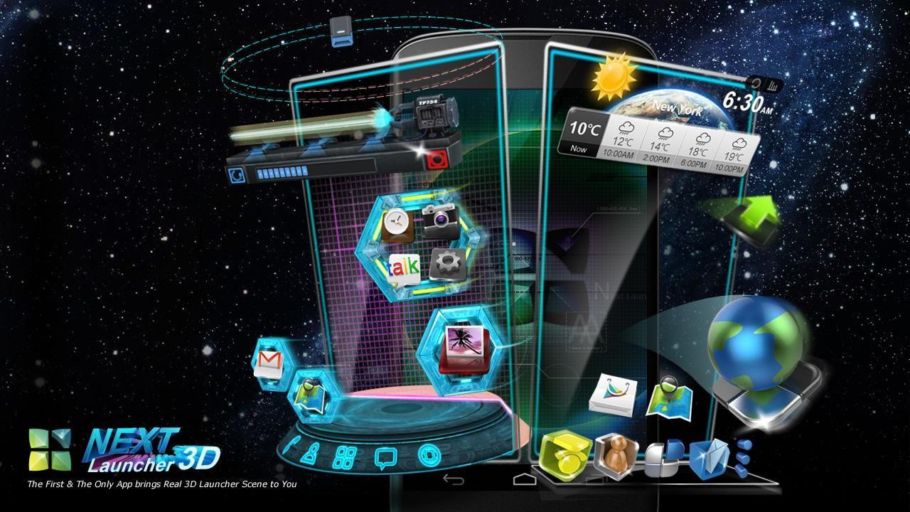 Download Next Launcher 3D v2 07 apk Keren | Android | Adobe