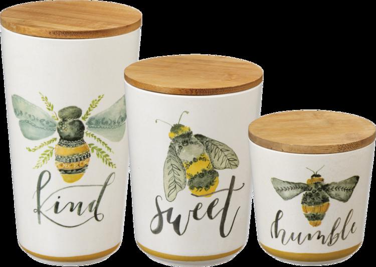 Honey Bee Beehive Shoppe Home Decor Kitchen Canister Set Kitchen Canisters Canisters Canister Sets