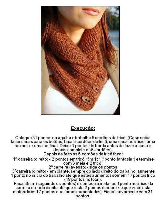 receita-gola-branca-cintia.jpg (540×720) | golas em croche chic ...