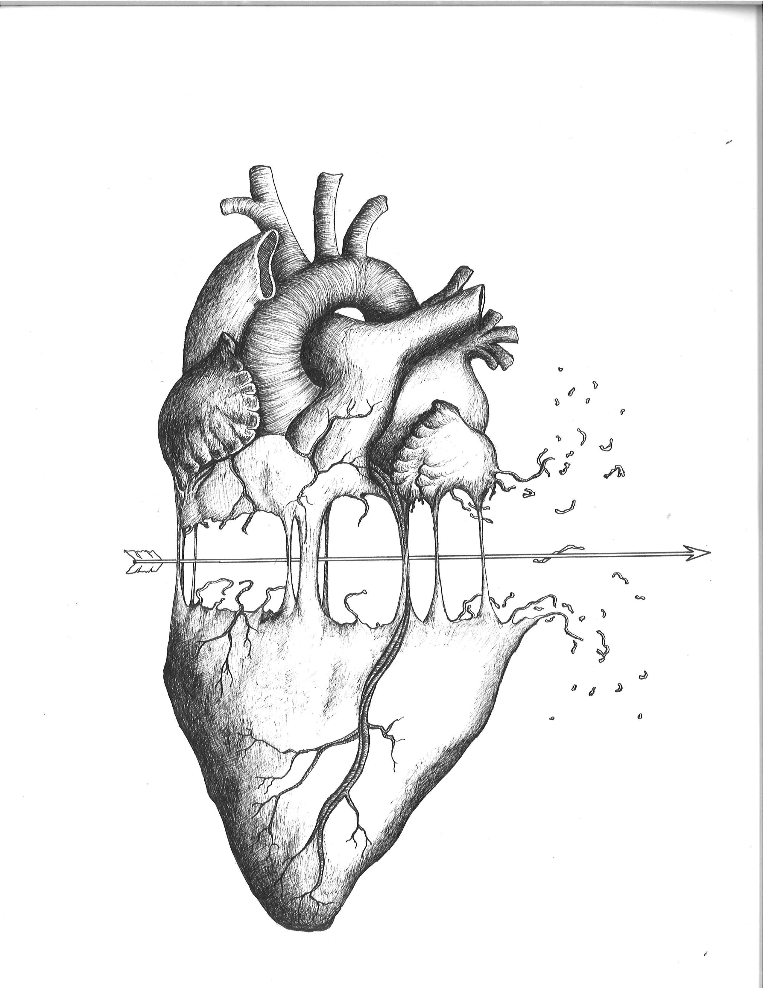 Heartbreak Pendrawing Drawing Heartbreak Inkweaver Art