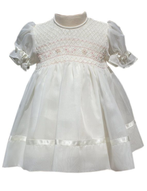 Baby Girls Organza Dress, Baby Girls Special Occasion Dresses, Hand ...