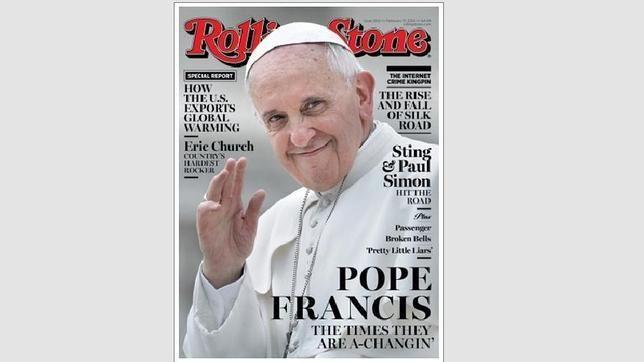 "Bergoglio ""Rock Star"" - El Papa Francisco, portada de «Rolling Stone»"