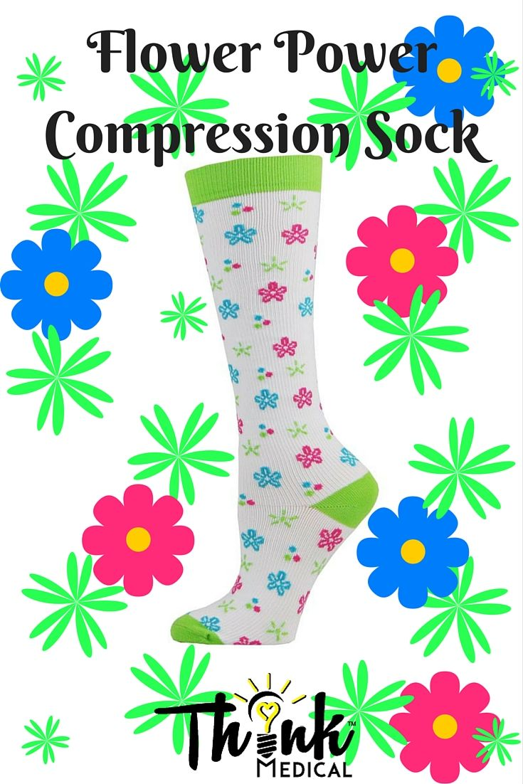a1465a24f5 FLOWER POWER COMPRESSION SOCK Think Medical™ compression socks enhance  circulation, provide support, and helps relieve leg fatigue!