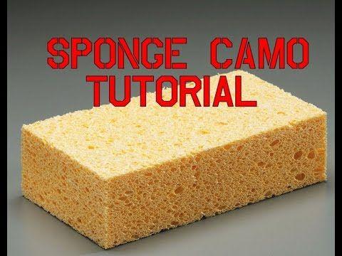 10 Sponge Camo Painting Tutorial How To Youtube Sponge
