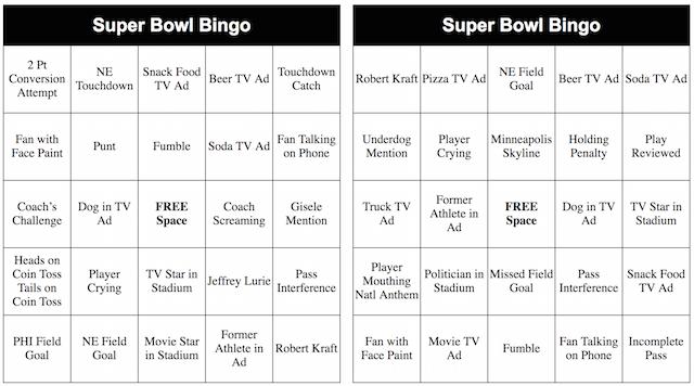 photo about Printable Super Bowl Bingo Cards titled 2019 Printable Tremendous Bowl Bingo Playing cards superbowl Tremendous
