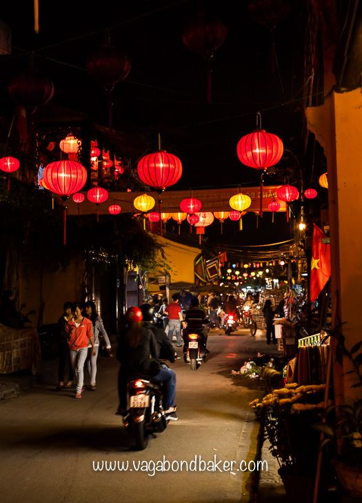 Lantern lined streets get my heart every time! Hoi An for Tet // Vietnam