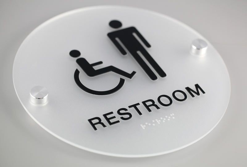 Bathroom Signs For Business stylish restroom signs with grade 2 braille - cool bathroom signs