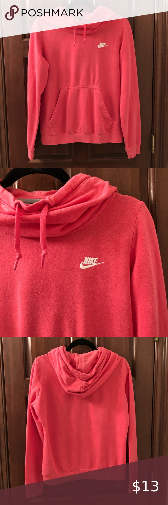 Nike Cowl Neck Hoodie Pink Size Medium Pink Hoodie Cowl Neck Hoodie Clothes Design [ 1740 x 580 Pixel ]