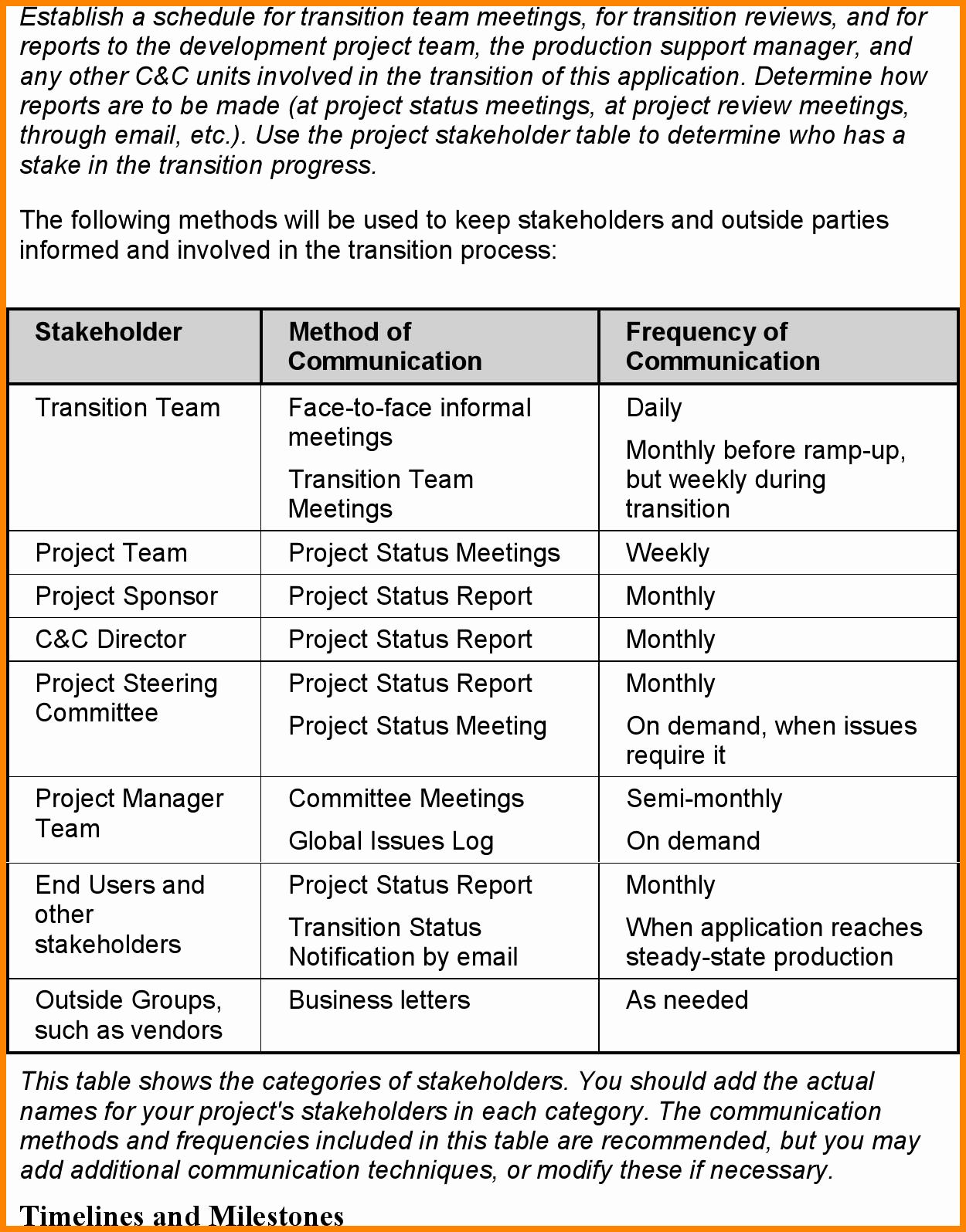 Project Management Transition Plan Template Luxury Transition Plan Template For It Projects Templat How To Plan Business Plan Template Business Letter Template
