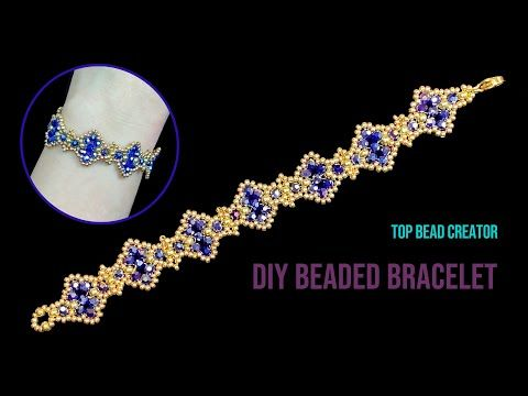 How to make beaded bracelet, Jewelry making tutori