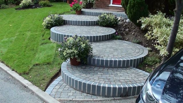 landscaped steps Steps and Garden Landscaping Path in