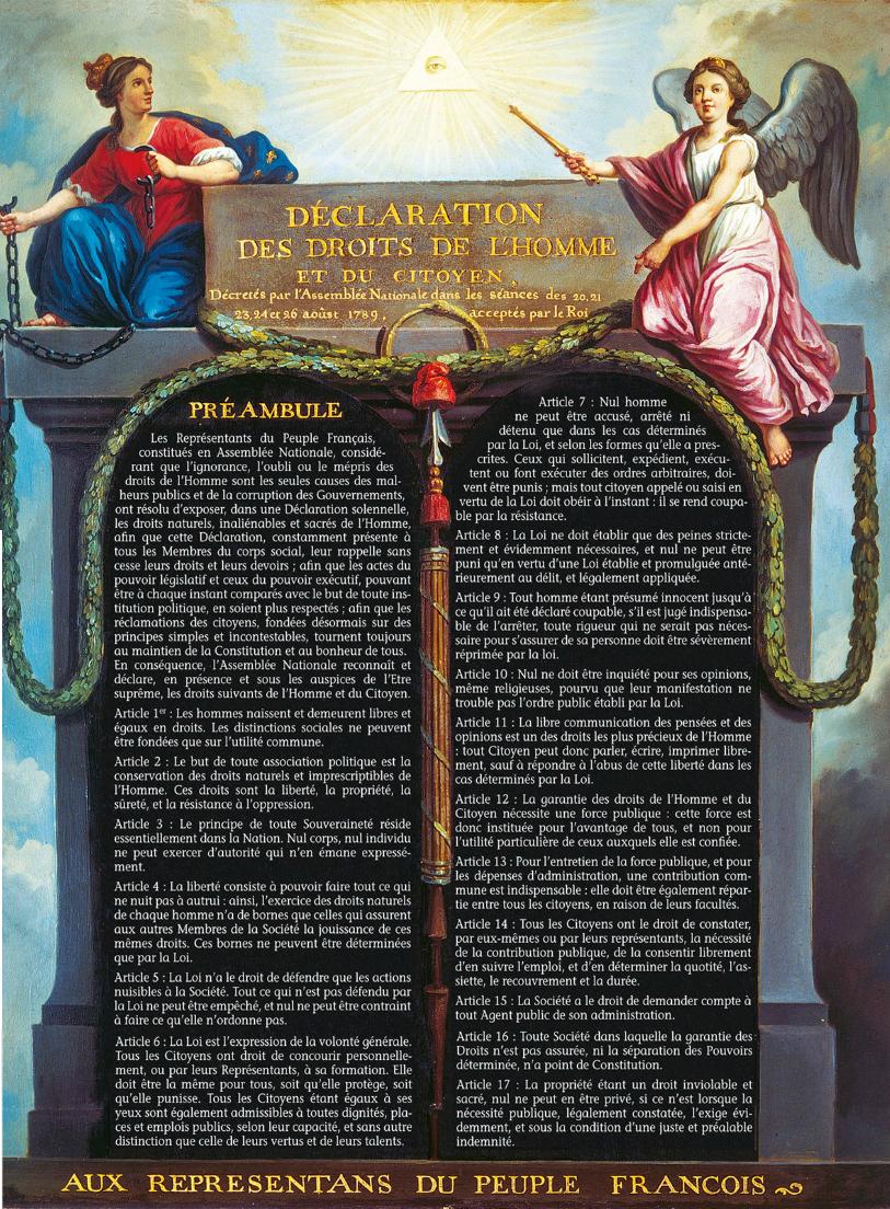 Declaration Des Droits De L Homme Et Du Citoyen By Gavalda Scene History Image