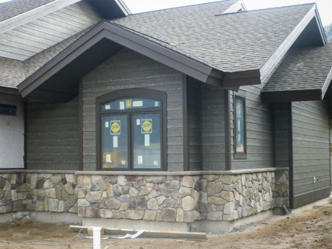 Siding black hills trim custom brown exterior re do for Dark brown exterior trim
