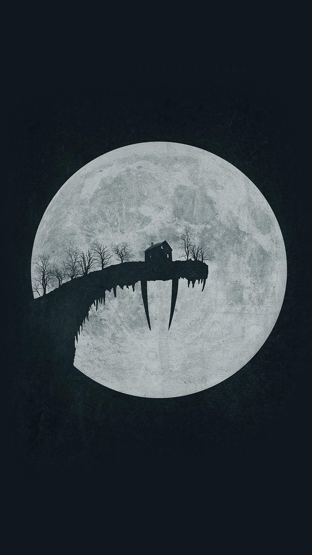 Tusk Moon Poster Illustration Art Dark ...