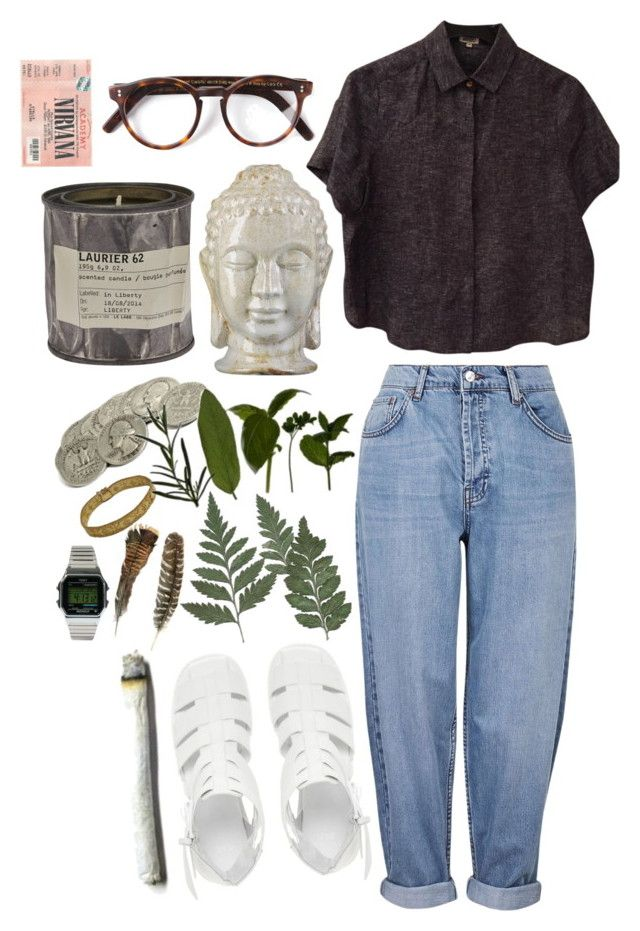 """what's so bad about that anyways?"" by imagicality ❤ liked on Polyvore featuring Topshop, Cutler and Gross, Le Labo, Emissary, ASOS, Kenzo and Timex"