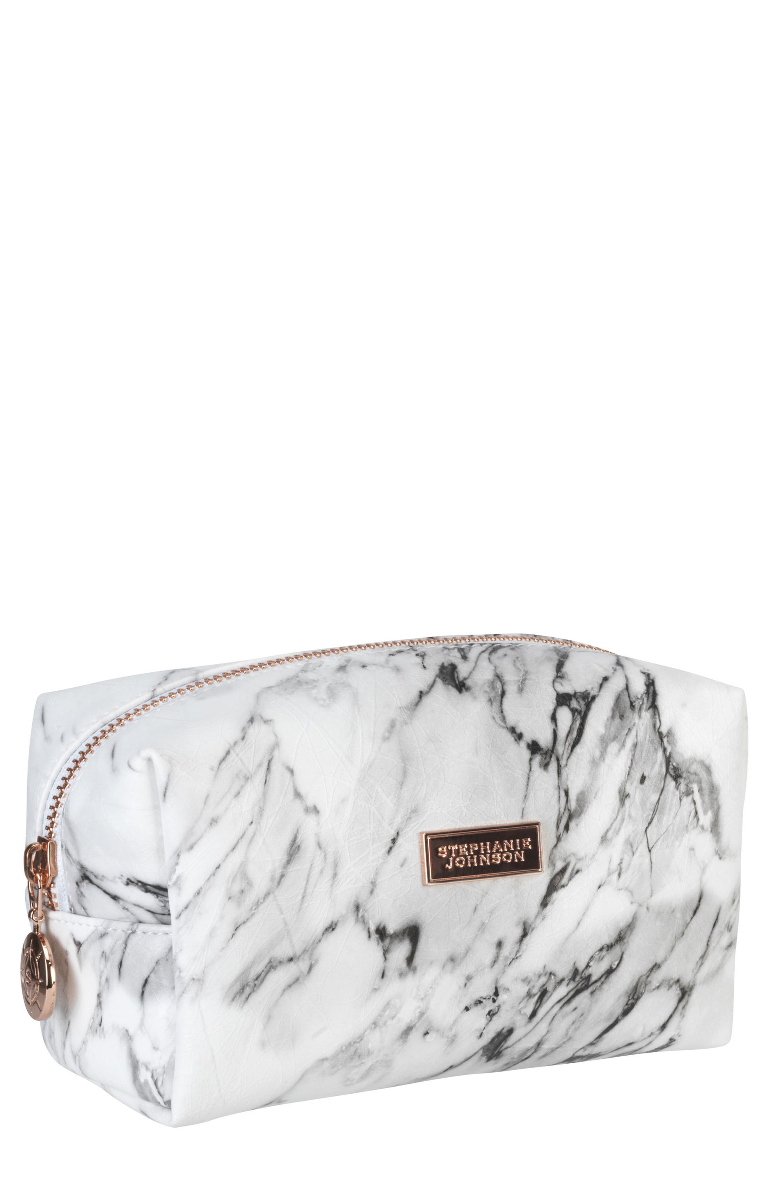 Stephanie Johnson Carrara Grey Iris Small Cosmetics Bag