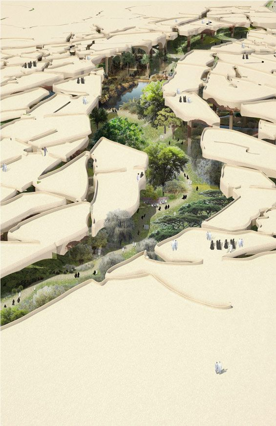 Al Fayah park in Abu Dhabi, UAE by Heatherwick Studio